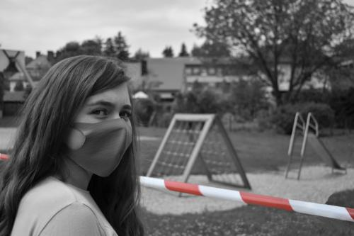 Every time she goes by the playground, she starts reliving the, not so distant, past. There are so many good memories behind that red and white tape. The same tape often used to mark crime scenes. She can't explain why, but the memories aren't quite the same anymore.